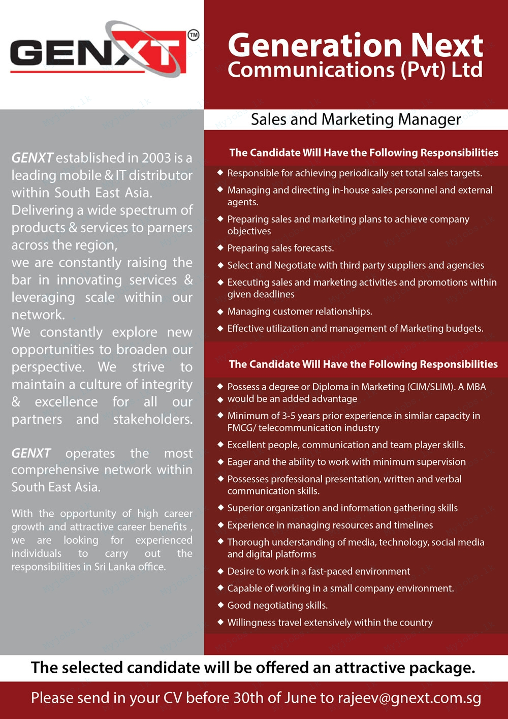 sales and marketing manager jobs in sri lanka