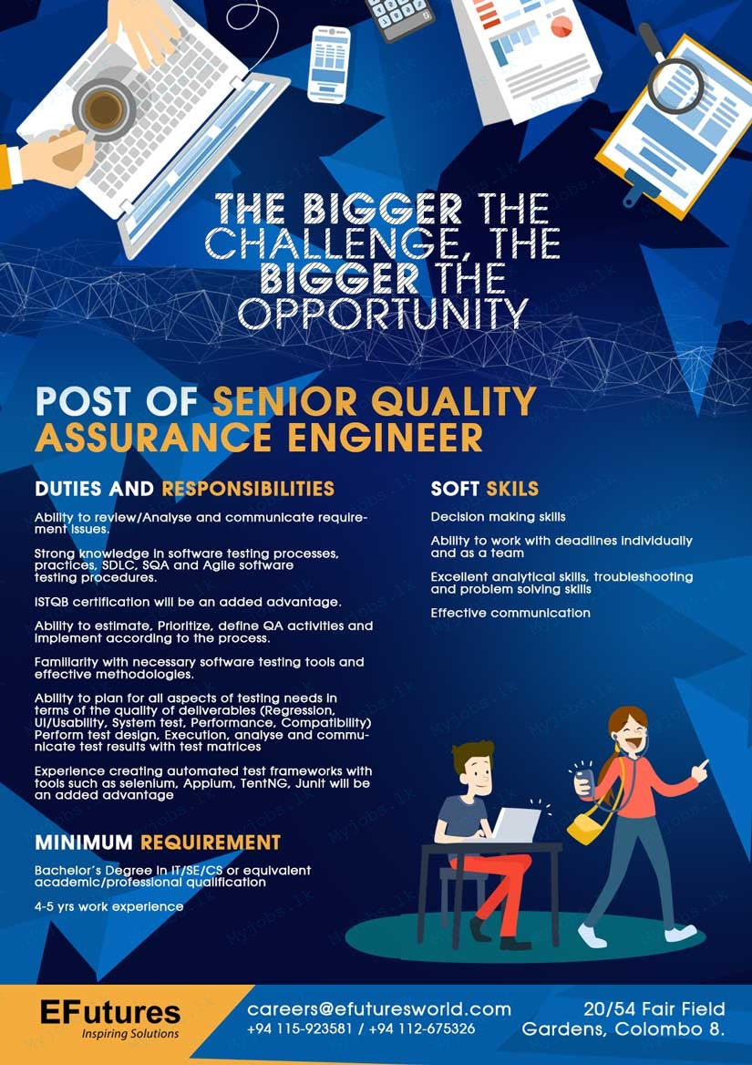senior quality assurance engineer jobs in sri lanka