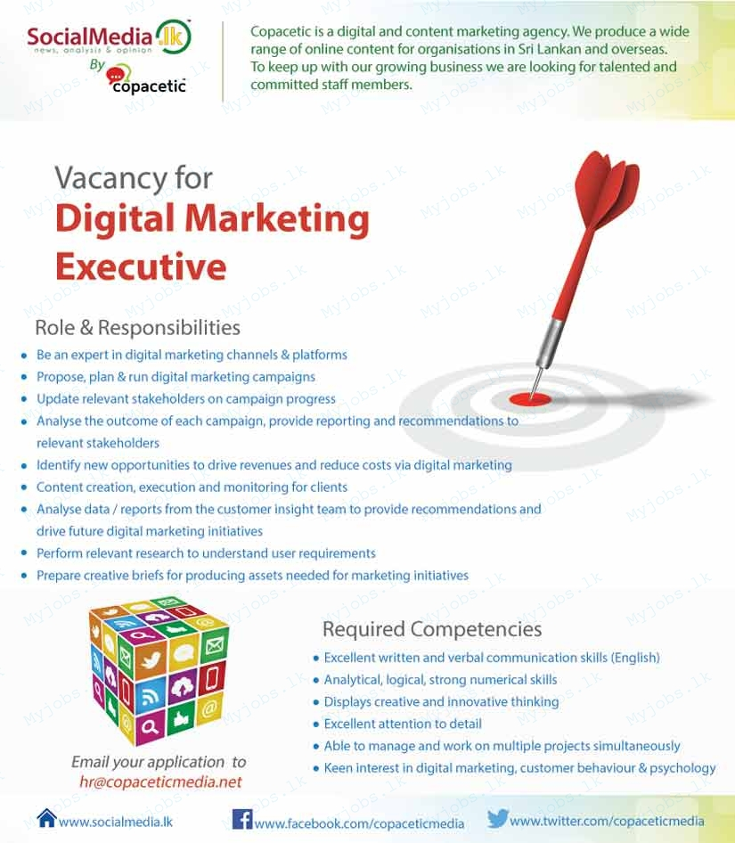 Digital Marketing Executive Jobs In Sri Lanka Job