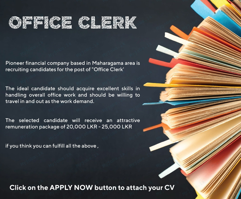 office clerk jobs in sri lanka