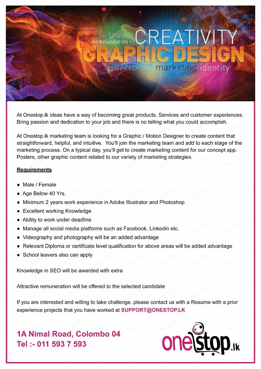graphic designer jobs in sri lanka