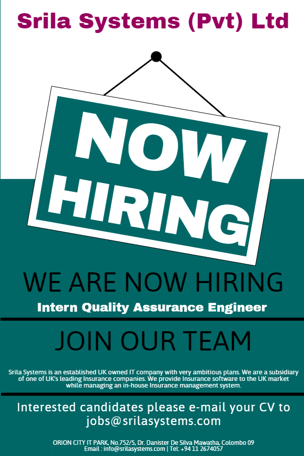 Intern Quality Assurance Engineer QA Tester junior Undergraduate QA ...